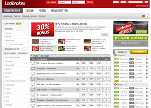 Online Sportwetten bei Ladbrokes.com